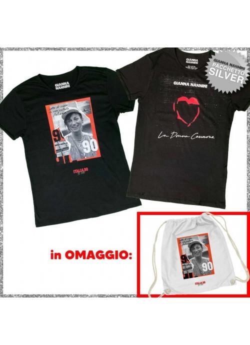 t-shirt LIGA ROCK PARK nera - donna