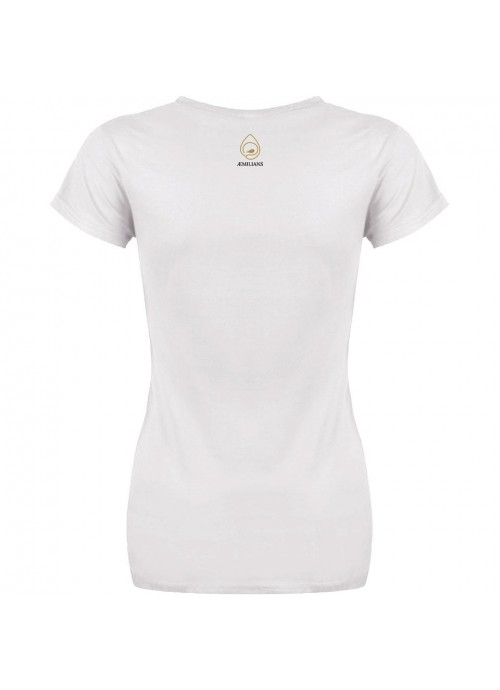 t-shirt unisex - bianca - logo 2
