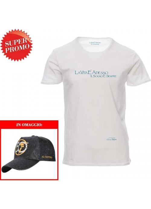 T-shirt Vado a Farmi un Giro unisex bianca
