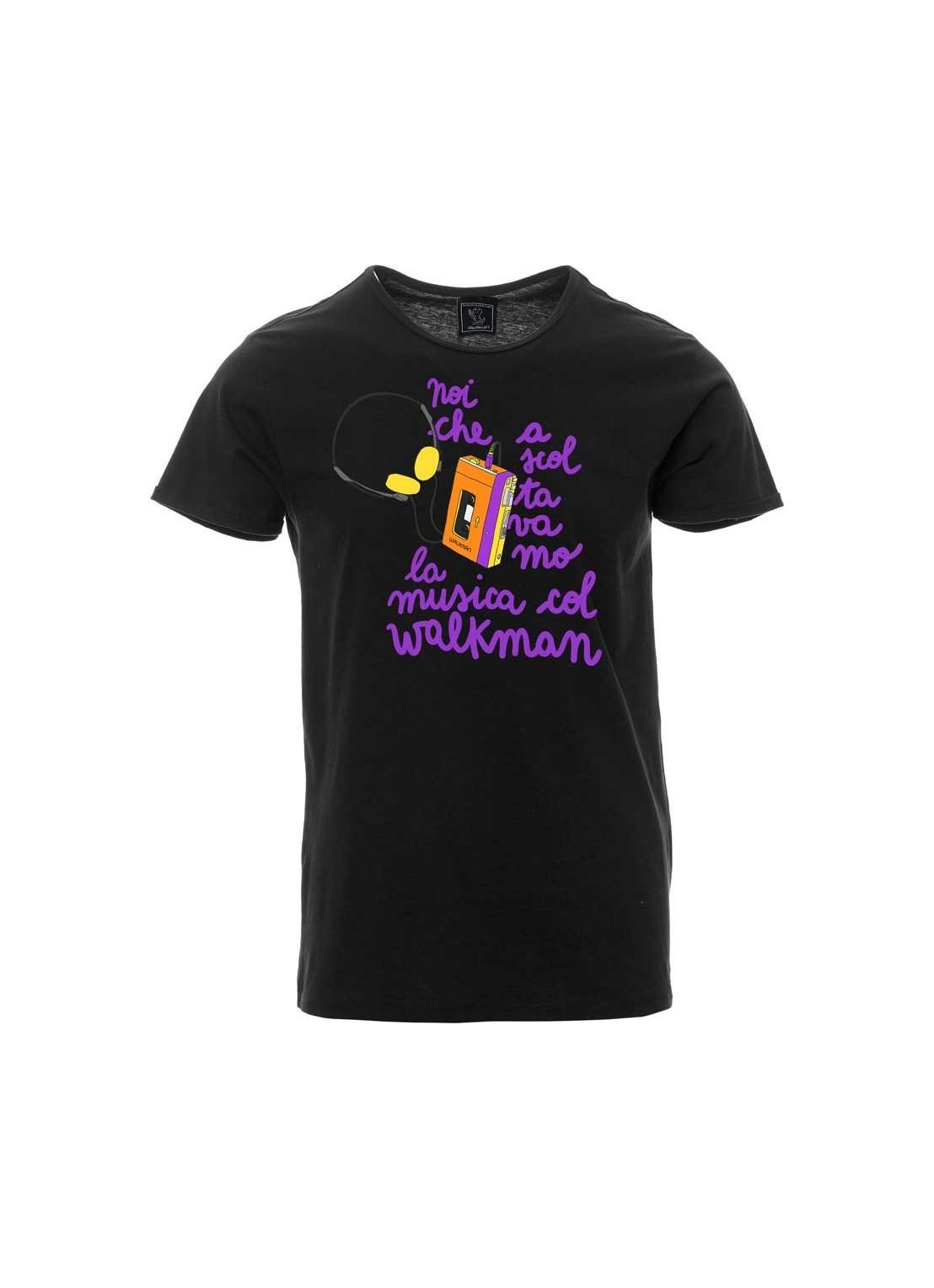 """T-shirt """"Sudore.Fiato.Cuore"""" unisex nera"""
