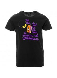 """T-shirt """"Sudore.Fiato.Cuore"""" foto unisex nera"""