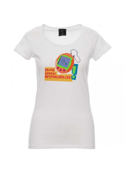 "T-shirt ""La mia storia tra le dita""  - unisex bianca"