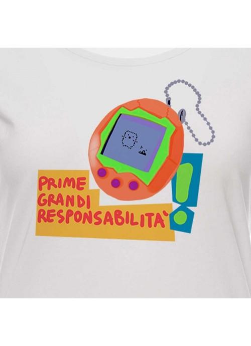 "T-shirt "" 'O scarrafone "" unisex bianca"
