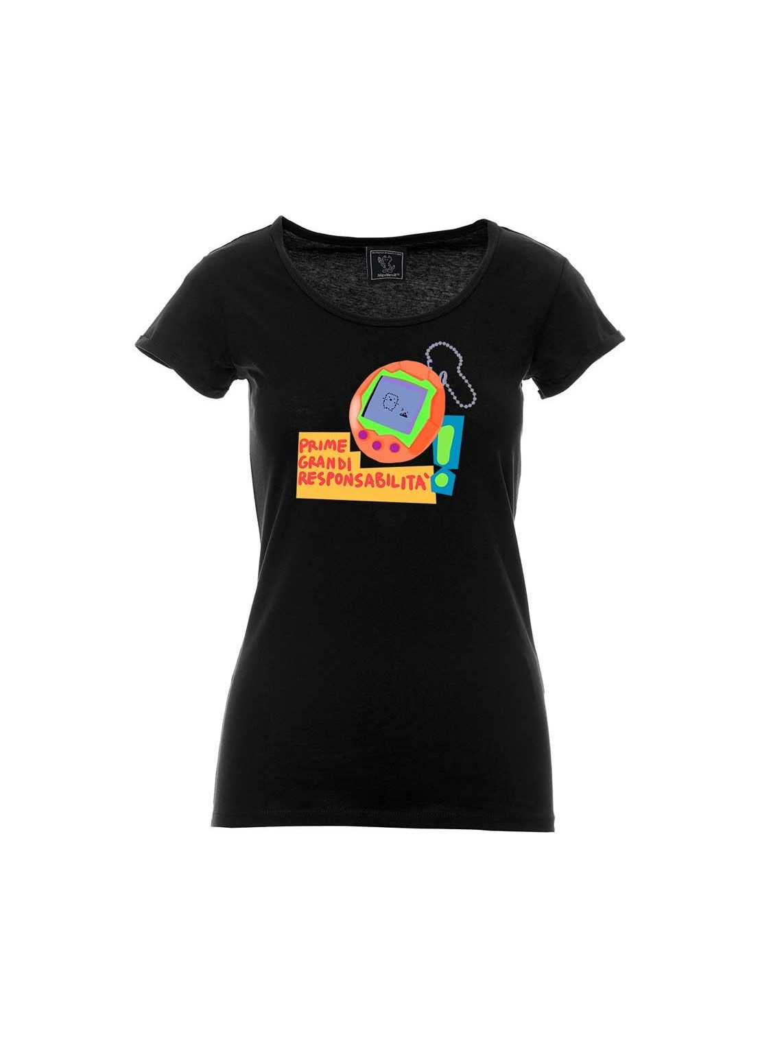"T-shirt ""Senza una donna"" unisex bianca"