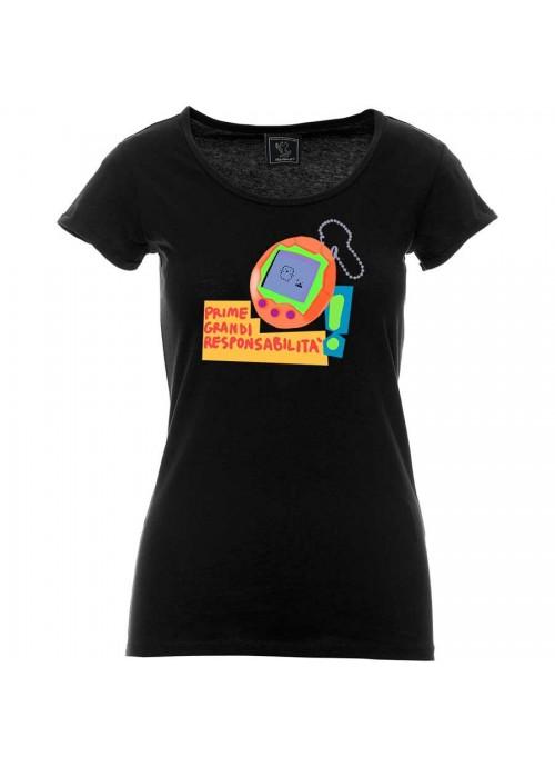 """T-shirt """"Nati per vivere (adesso e qui)"""" unisex bianca"""