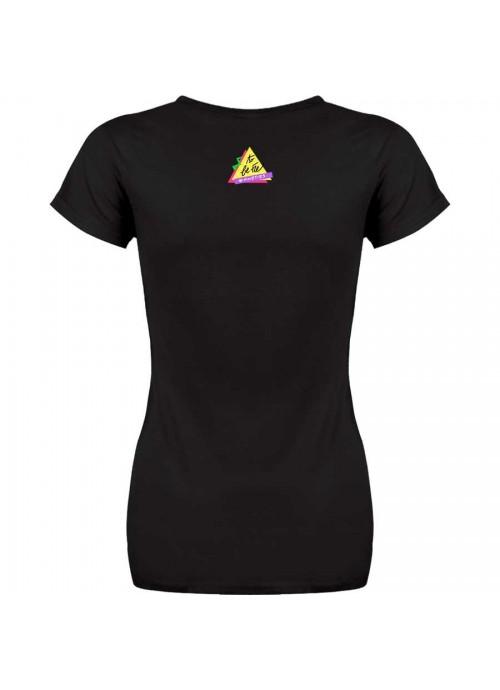 "T-shirt "" 'O scarrafone "" unisex nera"