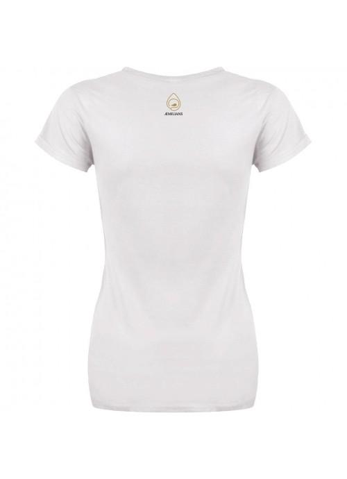 "t-shirt ""Fiori ribelli"" - donna bianca"