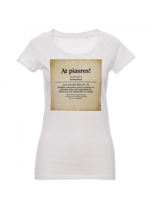"t-shirt ""Oh, Vita!"" bianca donna"