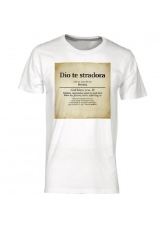 "t-shirt ""Cogli la prima mela"" unisex nera"