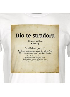 """t-shirt """"Domenica e Lunedì"""" unisex bianca"""