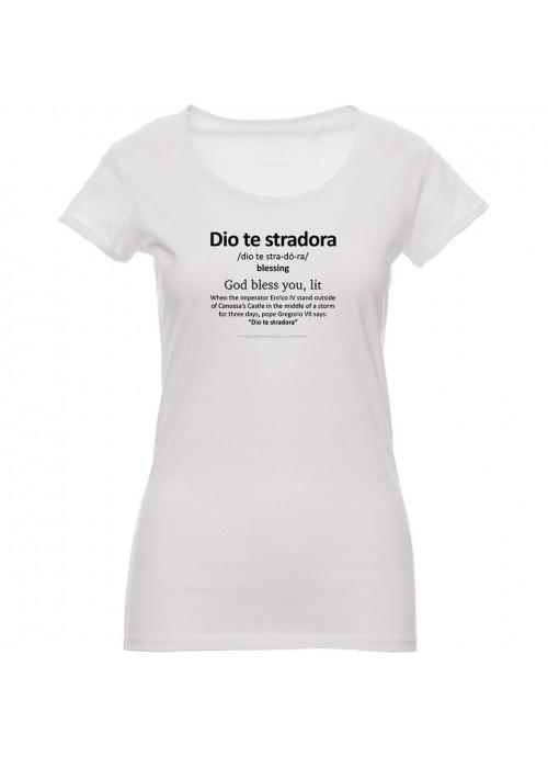 "T-shirt ""Ragazza paradiso"" unisex nera"