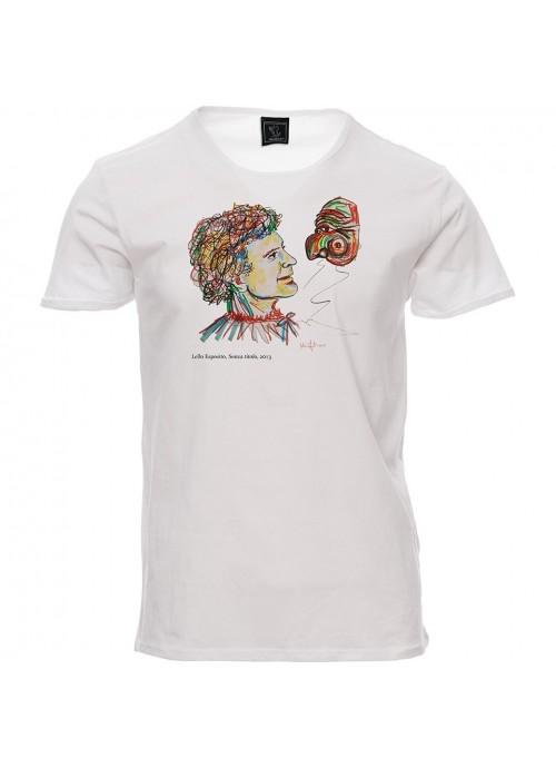 T-shirt SBAM bianca unisex