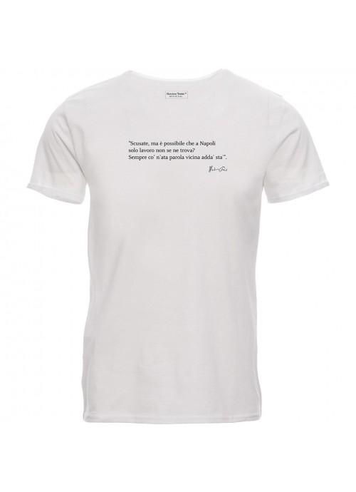 T-shirt Claudio Baglioni strass nera unisex
