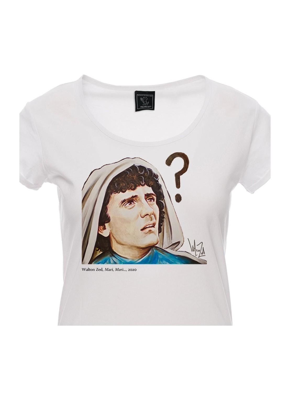 T-shirt TIENI APERTO unisex bianca