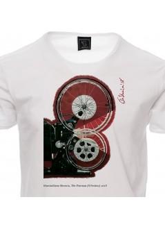 "T-shirt Jova ""smile"" unisex bianca"